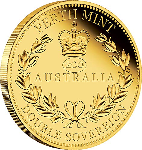 2019 TV Queen Victoria Anniversary PowerCoin DOUBLE SOVEREIGN 200 Anniversary Gold Coin 50$ Australia 2019 Proof
