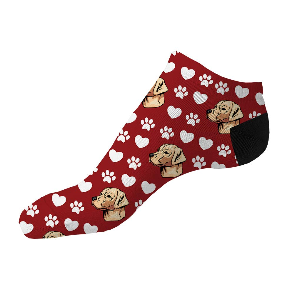 Labrador Retriever Dog Red Pattern Men-Women Adult Ankle Socks