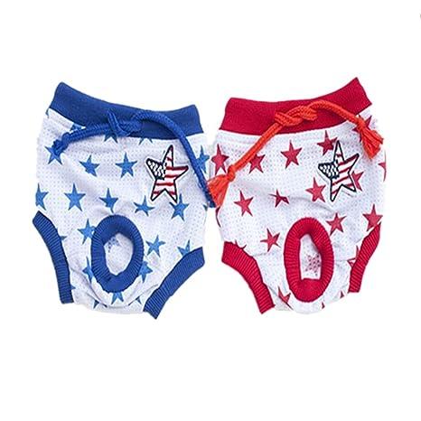 Fully 2X Abrigos lavables para perros Cachorros Femeninos Períodos de Período de la Temporada Menstrual Pañales