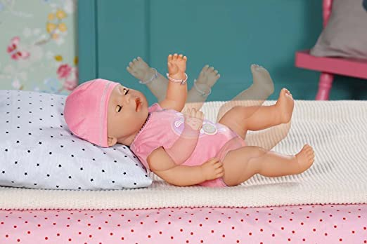 Baby Born- Interactive Muñeca Bebe, Color Rosa (Zapf 10 Accesorios)