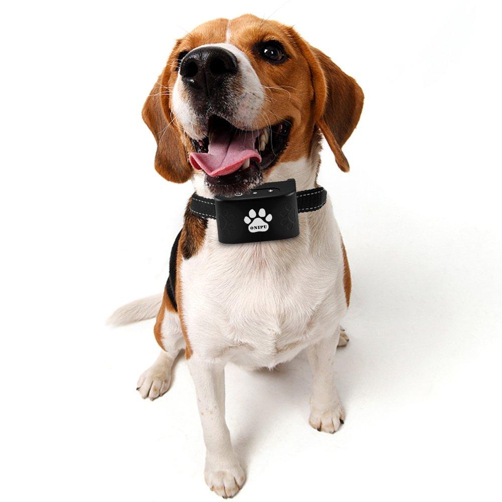 Dog Bark Collar, Onipu Anti Bark Collar-Vibration No Shock - Humane and Harmless No Bark Training Collar - Stop Barking for Tiny Mini Small Medium Dogs - Best No Bark Control Collar -Waterproof Device
