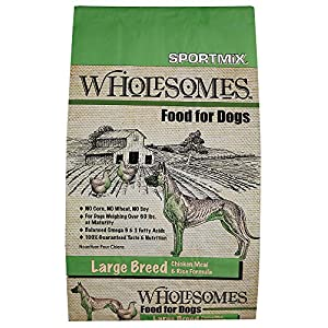 Sportmix Wholesomes Large Breed Chicken Meal And Rice Formula Dry Dog Food, 40 Lb. 74
