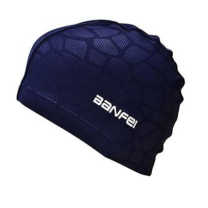 SheShy Uomini Impermeabile a prova di umidità Formato adulto cappello nuoto  flessibile Cuffia da nuoto Cotton Fiber (blu)  Amazon.it  Sport e tempo  libero 6501d32823f7