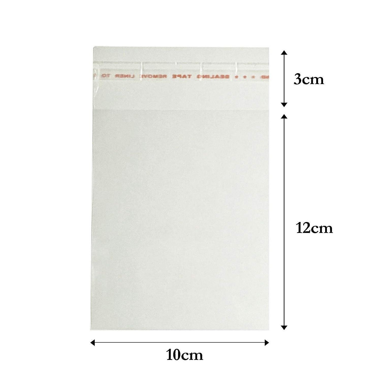 100 x Clear Cellophane Envelopes Self Seal Greeting Card Bags Display Bags (10cm X 12cm) Deco Fleur