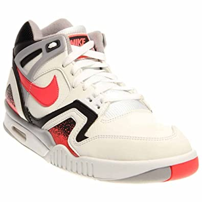 the latest a74e7 ba1e3 Nike Mens Air Tech Challenge II WhiteHot Lava-Black-Silver Leather Running