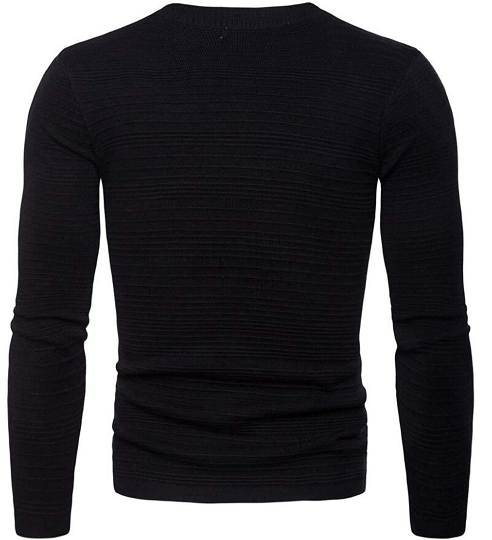 Pivaconis Mens Long Sleeve V Neck Buttons Knitted Winter Cardigan Sweater