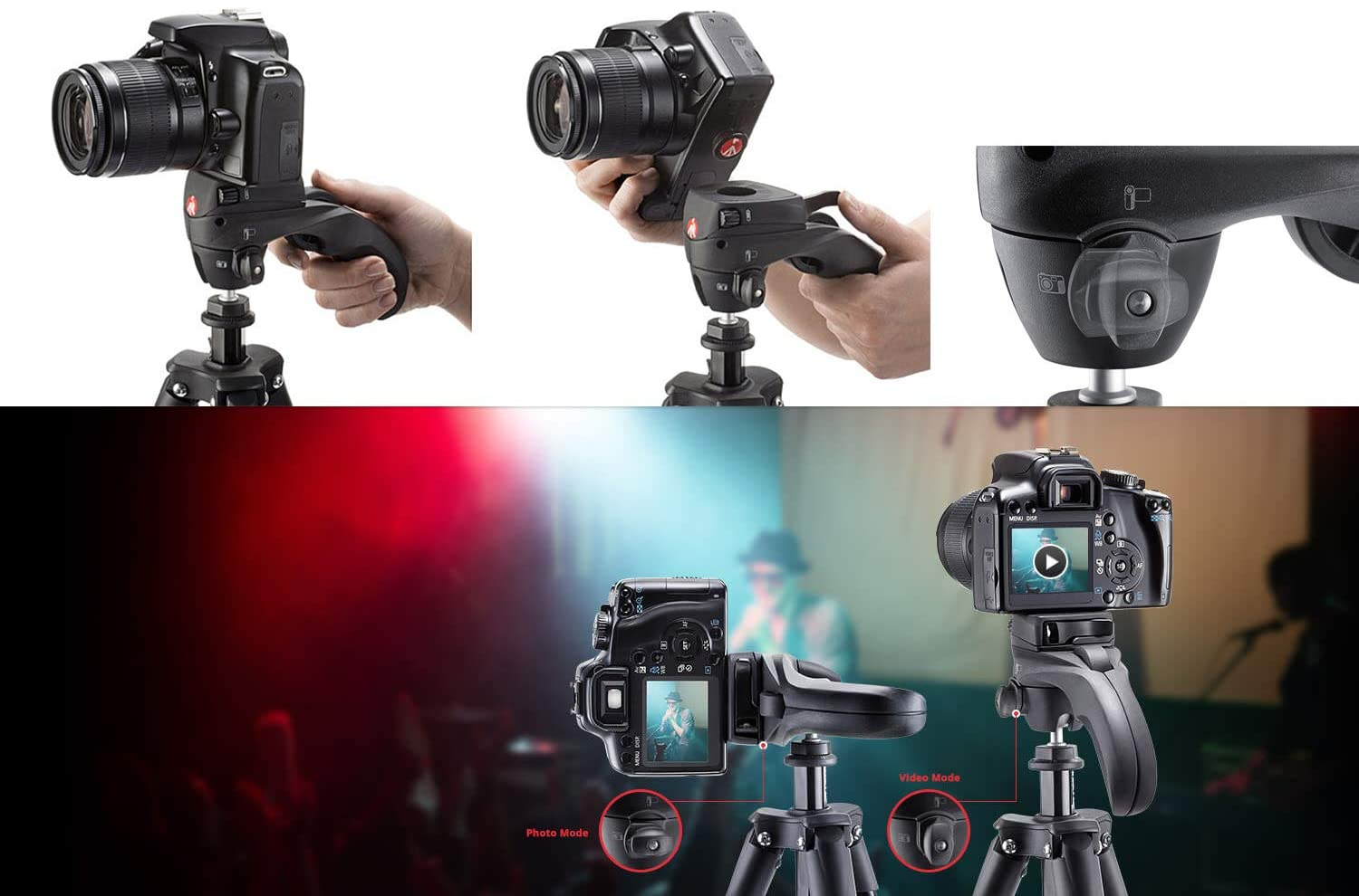 MKCOMPACTADVBH Black Manfrotto Compact Advanced Aluminum 5-Section Tripod Kit with Ball Head