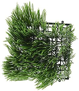 "Artificial Wheat Grass- Fake Soft PVC Plastic Decorative Wheatgrass: Ornamantal Flower Arranging & Home Decor - 6""x6""x4"""