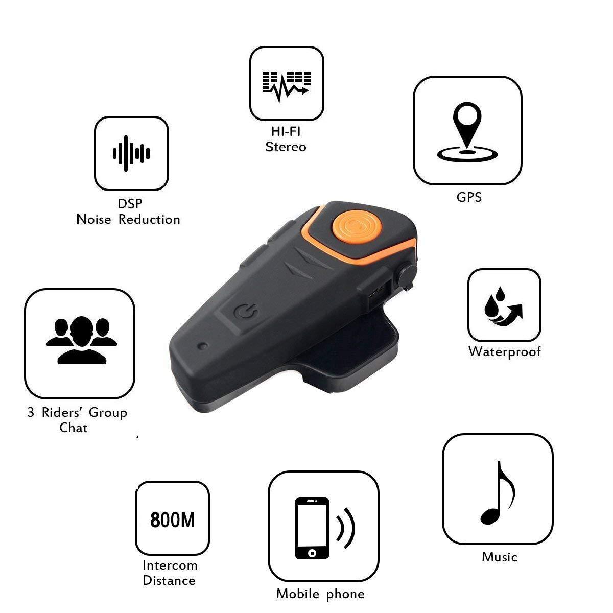 Amazon.com: Baile - Auricular Bluetooth para casco de ...