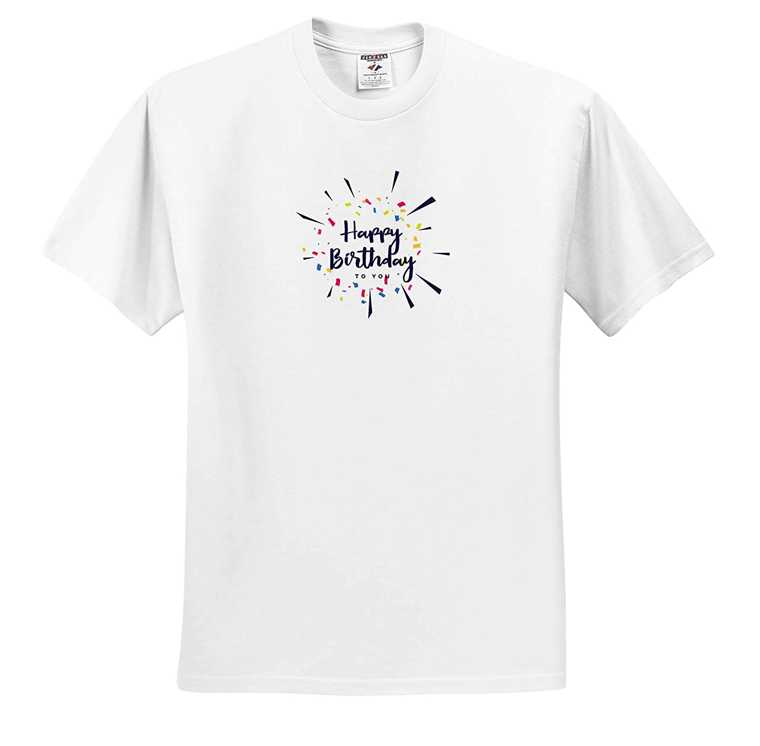 Happy Birthday to You with White Background Funny Gift T-Shirts 3dRose Sven Herkenrath Birthday