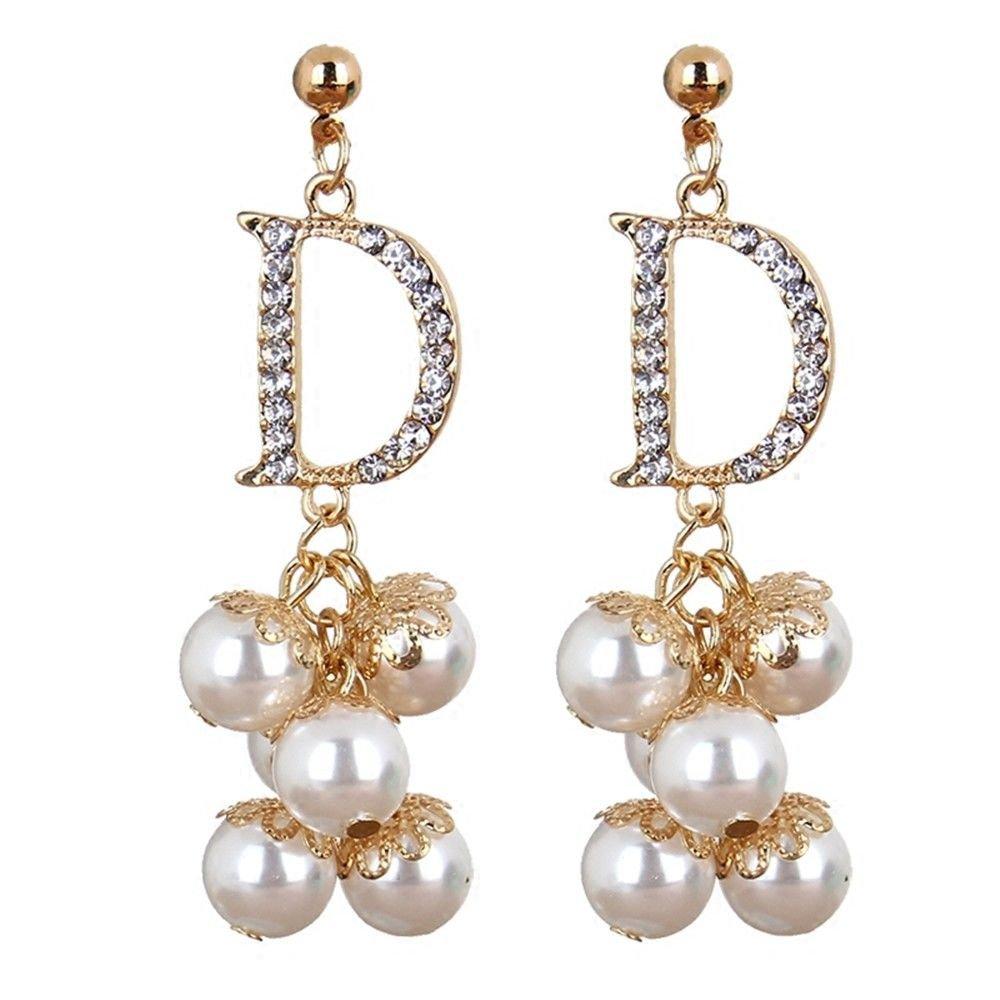 Ling Studs Earrings Hypoallergenic Cartilage Ear Piercing Simple Fashion Earrings Ear Jewelry Long Silver Pearl Rose Sterling Silver