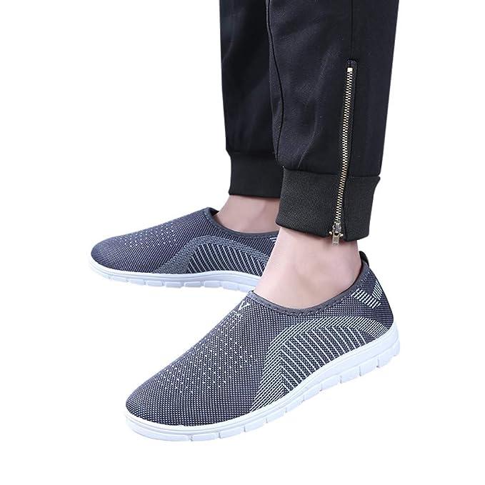 Btruely Hombre Zapatos cómodos Mocasines Calzado Deportivo Casual sin Cordones Zapatillas de Deporte Zapatillas de Tenis Zapatillas de Deporte de Encaje ...