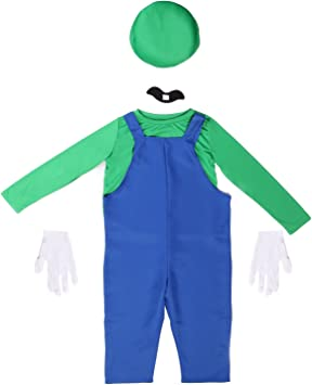 Anladia - Disfraz de Super Mario Brothers Luigi para niño Cosplay ...