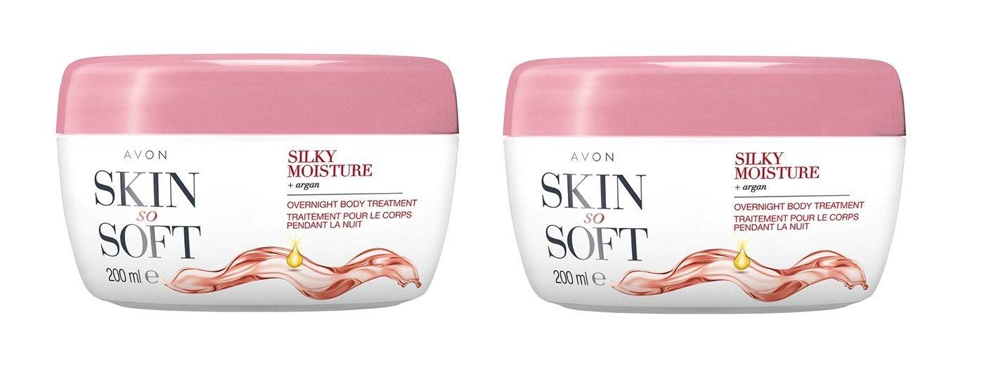 3x Avon Skin So Soft Silky Moisture Body Butter 200 ml