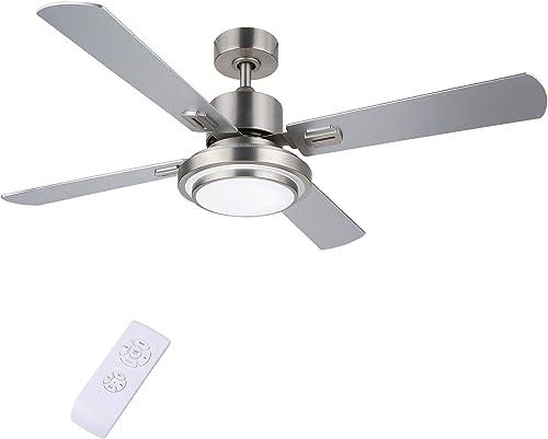 CO-Z 52'' Modern Ceiling Fan Brushed Nickel