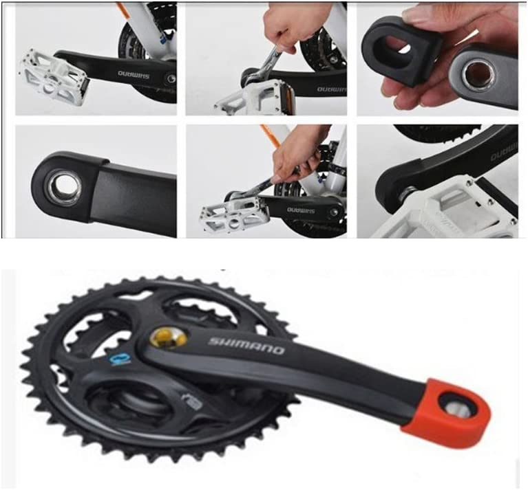 beststar 2pcs Bicycle Sleeve Cover Silicon Mountain Bike Road Bike Gel Crankset Bicycle Crank Arm Boots//Protectors #81175