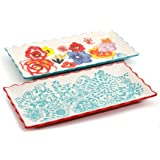 The Pioneer Woman Flea Market Rectangular Serving Tray Set, 2-Pack (1)