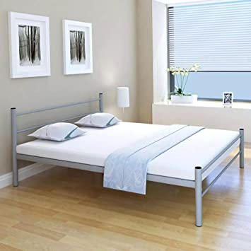 Amazonde Festnight Doppelbett Metallbett Gästebett Bett
