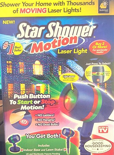 Laser Light Motion Outdoor Indoor Christmas