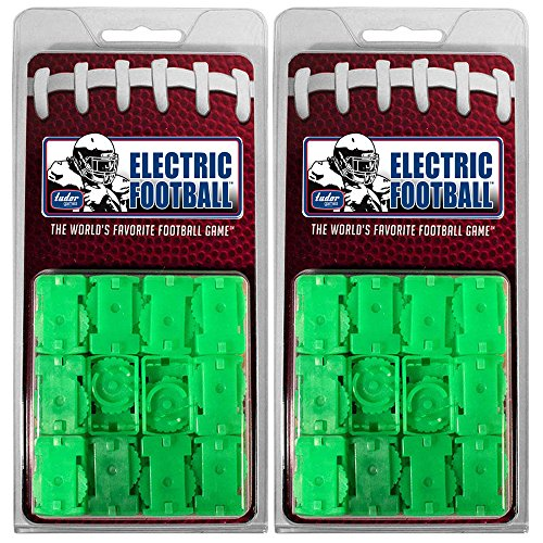 (Tudor Games Electric Football Pro Line 2-Clip Strong Total Team Control Straight Front Bases, 24 Pk, Green)