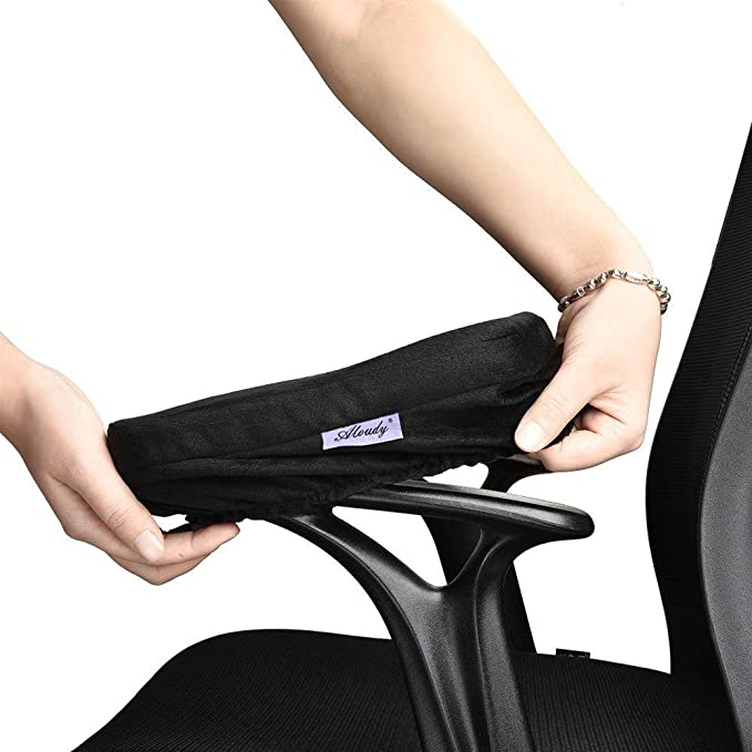Amazon.com: Aloudy, almohadilla para apoyabrazos de silla, espuma de memoria ergonómica, apoyabrazos para silla de oficina cómoda para alivio de presión de codos y antebrazos (2 unidades): Kitchen & Dining