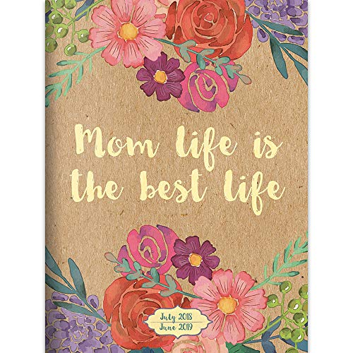 TF Publishing 19-4105A July 2018 - June 2019 Mom Life Monthly Planner, 7.5 x 10.25
