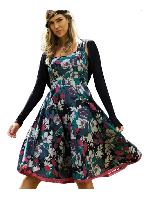 Vintage Flared Floral Cotton Summer Dress Fair Trade