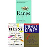 Range How Generalists Triumph in a Specialized World [Hardcover], Messy [Hardcover], The 7 Habits of Highly Effective…