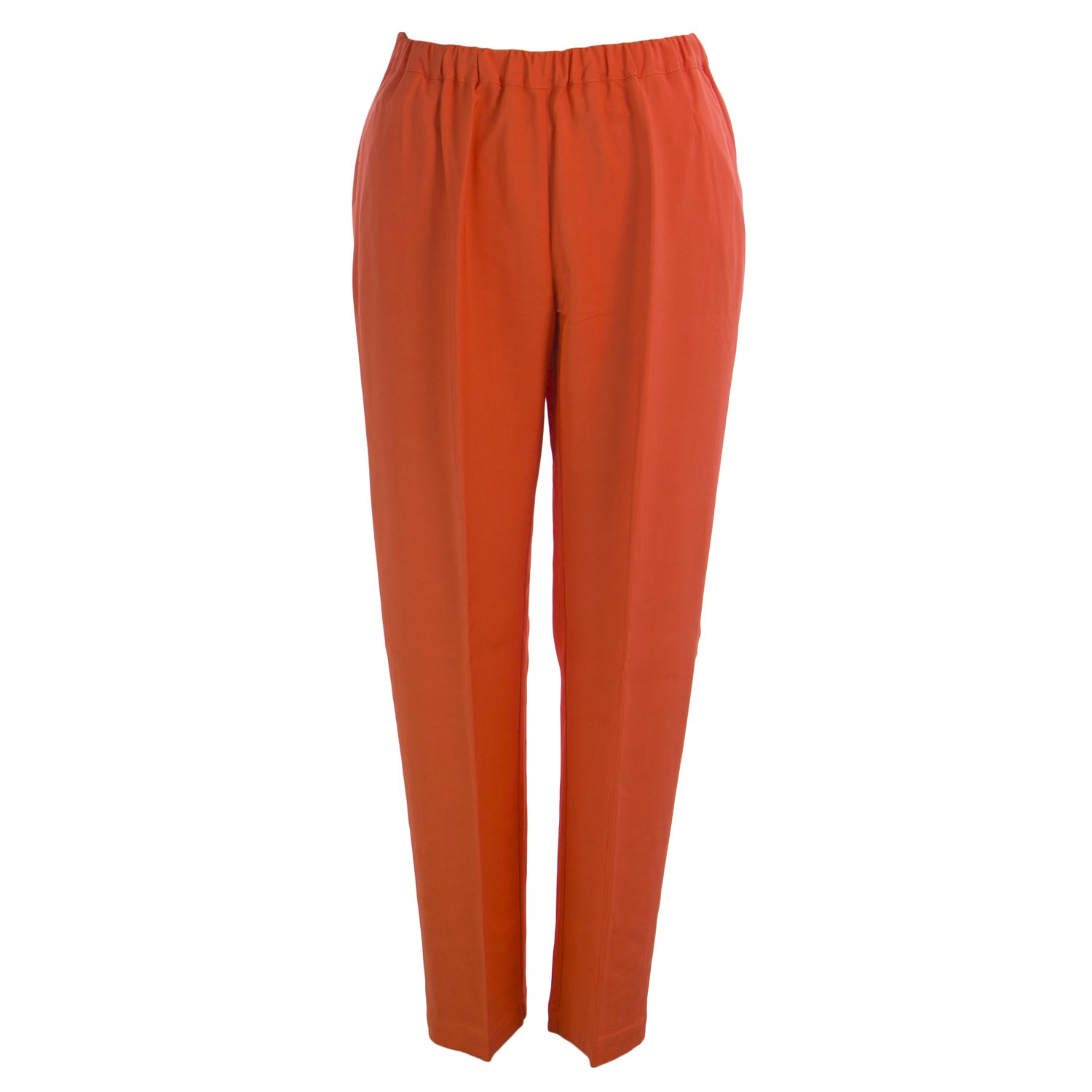 Marina Rinaldi Women's Re Elastic Waist Trousers 22W / 31 Orange