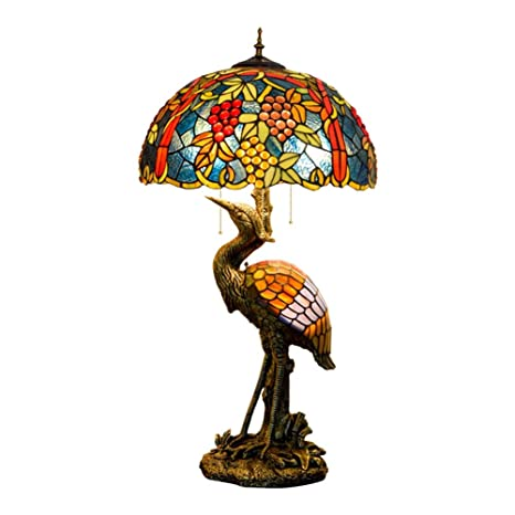 20 pulgadas de Tiffany del pájaro del estilo masculino lámpara de ...