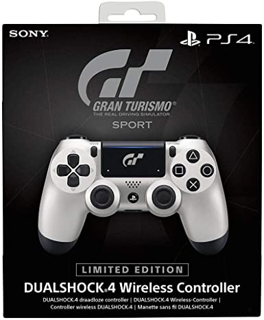 Sony DUALSHOCK 4 Limited Edition GT Sport Gamepad PlayStation 4 Negro, Plata - Volante/mando (Gamepad, PlayStation 4, Analógico/Digital, D-pad, Hogar, Share, Inalámbrico y alámbrico, Bluetooth): Amazon.es: Videojuegos