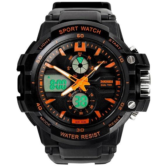 Reloj deportivo,Relojes digitales Gomita Luminoso Impermeable Multifunción Niño niño Adolescentes sostenible-