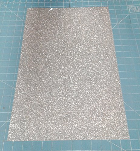 [해외]Silver Siser 반짝이 EasyWeed 20 x 12 (1) 열전 사 비닐에 철 시트/Silver Siser Glitter EasyWeed 20  x 12  (1) Sheet of Iron on Heat Tra
