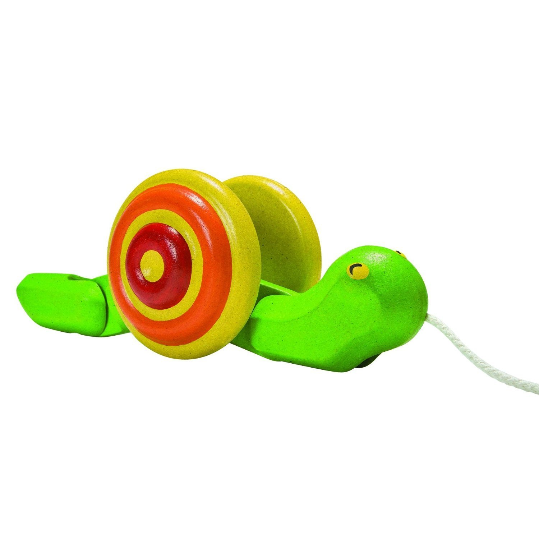 Amazon Plan Toys Preschool Pull Along Snail Toys & Games