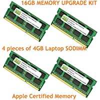 16GB (4 X 4GB) DDR3-1333MHz PC3-10600 SODIMM for Apple iMac 27 Mid 2011 Intel Core i5 Quad-Core 3.1GHz MC814LL/A (iMac 12,2)