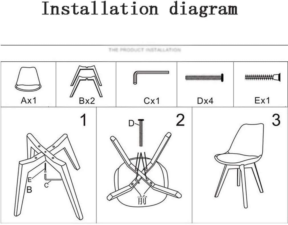 Datorstol för hemmabruk, enkel rygg matstol, lång sittplats tyg soffa, stol, 48 x 43 x 83 cm för matsal, arbetsrum, vardagsrum, kafé (färg: Beige) GRÖN
