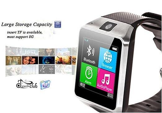 Amazon.com: GV08 Bluetooth SmartWatch inteligente reloj de la pantalla táctil del teléfono 1.54 pulgadas Marcador cámara para Android Samsung HTC LG: Cell ...