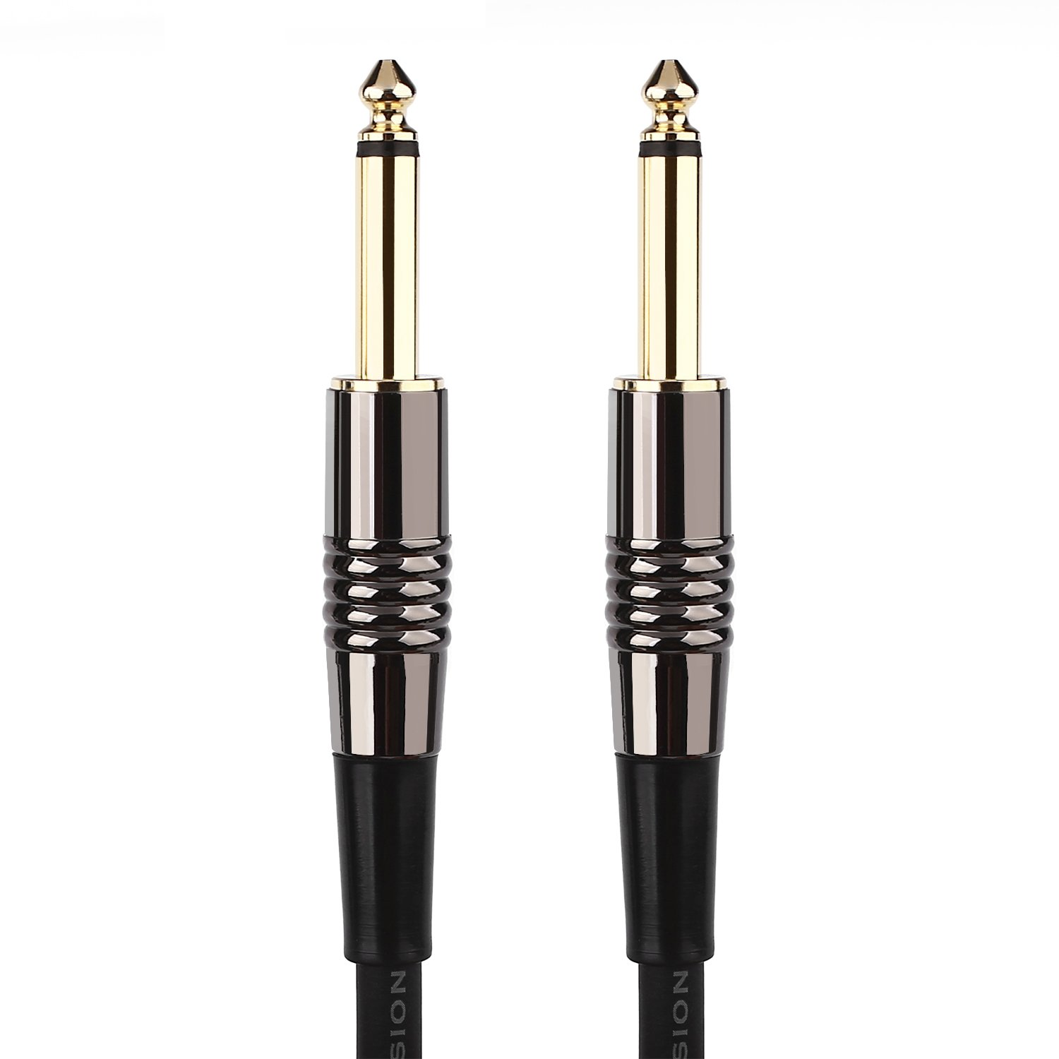 Mugig Guitar Cable with Gold Tipped Plugs, 1/4 Inch Cable Straight Male to Male Mono Instrument Cable for Guitar / Bass /Keyboard Music Instrument