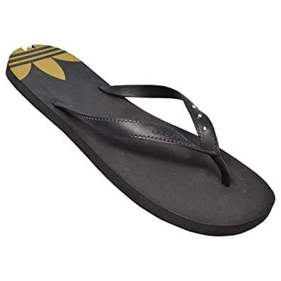 115fa7f38c9 adidas Women s Thong Sandals NOIR OR Black   Gold Size 40.5  Amazon ...