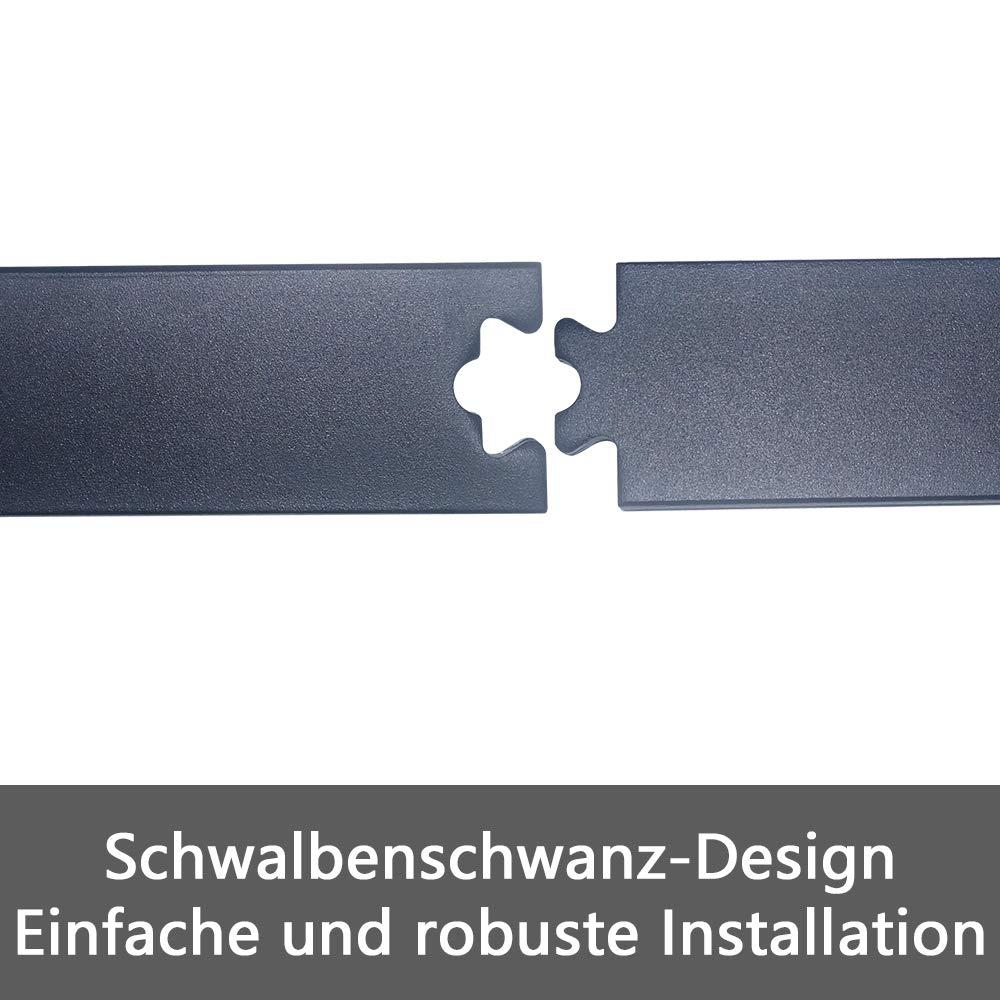 Wandschr/änke HENGMEI 366cm Schiebet/ürbeschlag Set Schiebet/ürsystem Beschlagset Laufschiene f/ür Schiebet/üren