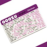 OOOZU German Language Card | Convenient German Phrasebook Alternative | Essential German For Travel To Germany/Berlin/Munich