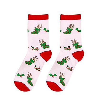 Zantec Original, Decoraciones Navidad, Mujer, Calcetines de Algodón cálido para Mujer calcetín de