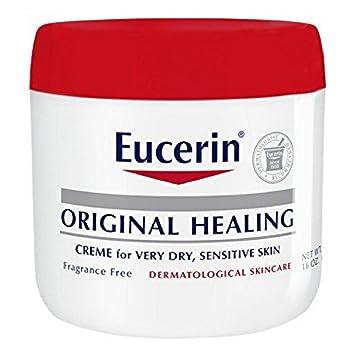 Eucerin Original Healing Rich Creme 16 oz (Pack of 2) (3 Pack) ELIZAVECCA Hell-Pore Clean Up AHA Fruit Toner