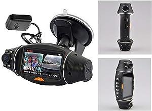 VIGORWORK Car DVR R310 Dual Lens Dash Cam in Car Camera Video Recorder Car DVR G-Sensor GPS Logger 2.7 inch Screen k