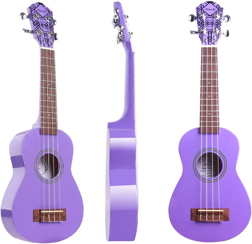 Soprano Ukulele 21 inch Mahogany Electric Rainbow Uke,Mini Kids Guitar Hawaiian ukelele Instrument Kit ukalalee for Beginner Adults Kids Starter Blue