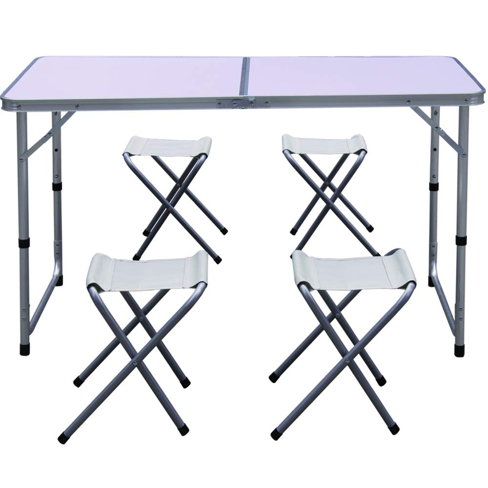 Camp Field Camping Table with Adjustable Legs for Beach Party and Picnic Table /… Backyards Small BBQ