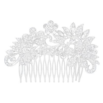 Diamantes De Imitación De Cristal Diamante Flor Broche Para El Cabello Peine De Diapositivas Para La Boda Nupcial