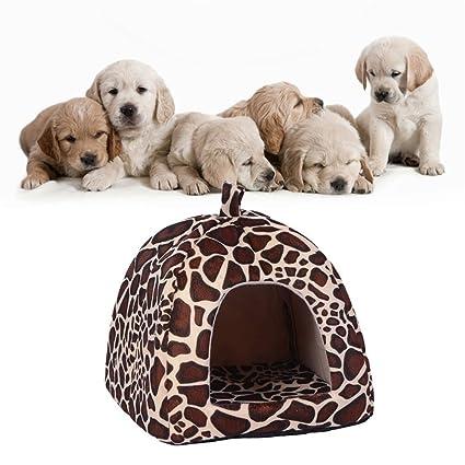 Minkoll Cama para Perro, Suave Jirafa, Perro, Cachorro, Mascota, Perro Cálido