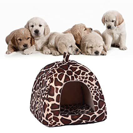 Kingnew Almohadilla suave para cama de perro jirafa para perro, perro, cachorro, cálida