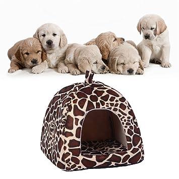Kingnew Almohadilla de jirafa suave para cama de perro, perro, perro, cachorro, cálida cesta de cojín (L): Amazon.es: Hogar
